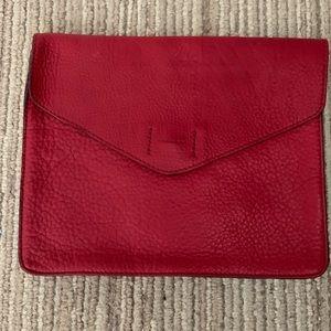Genuine leather Gap clutch